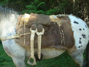 Primitive saddle. Photo and item by PorcupineQuillArt.com
